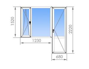 Цены на пластиковые окна в 1605-12 (12 этажей).